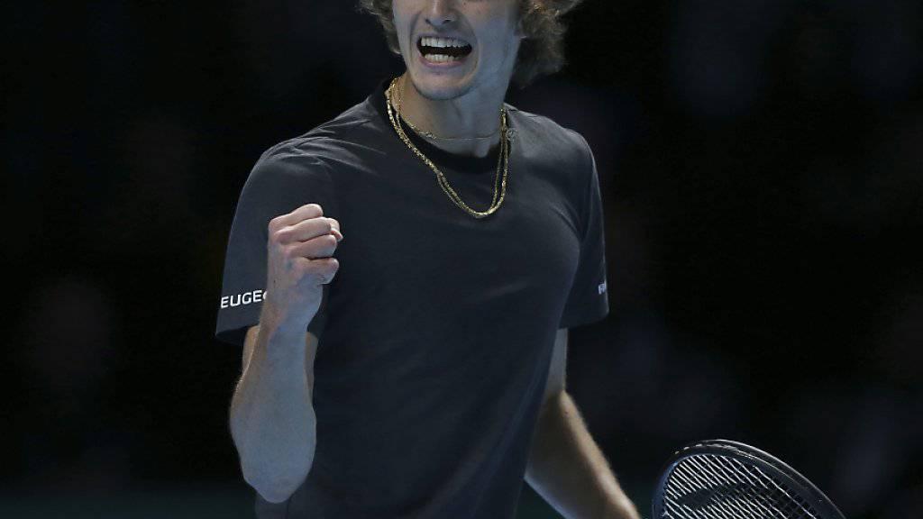 Alexander Zverev feiert seinen grössten Karriereerfolg