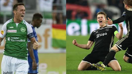 Der 21-jährige Silvan Hefti ist Captain der St.Galler (links) – Matthijs de Ligt führte Ajax (19) als Captain in den CL-Halbfinal.