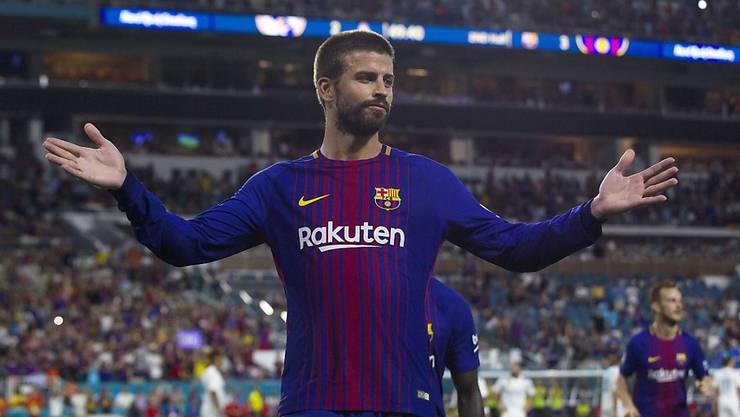 Siegtorschütze für den FC Barcelona: Gerard Piqué