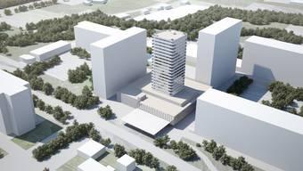 Gemäss dem aktuellen Richtprojekt wird der neue Liebrüti-Domus auf dem Zentrum rund acht Meter höher als das höchste der bestehenden Gebäude.