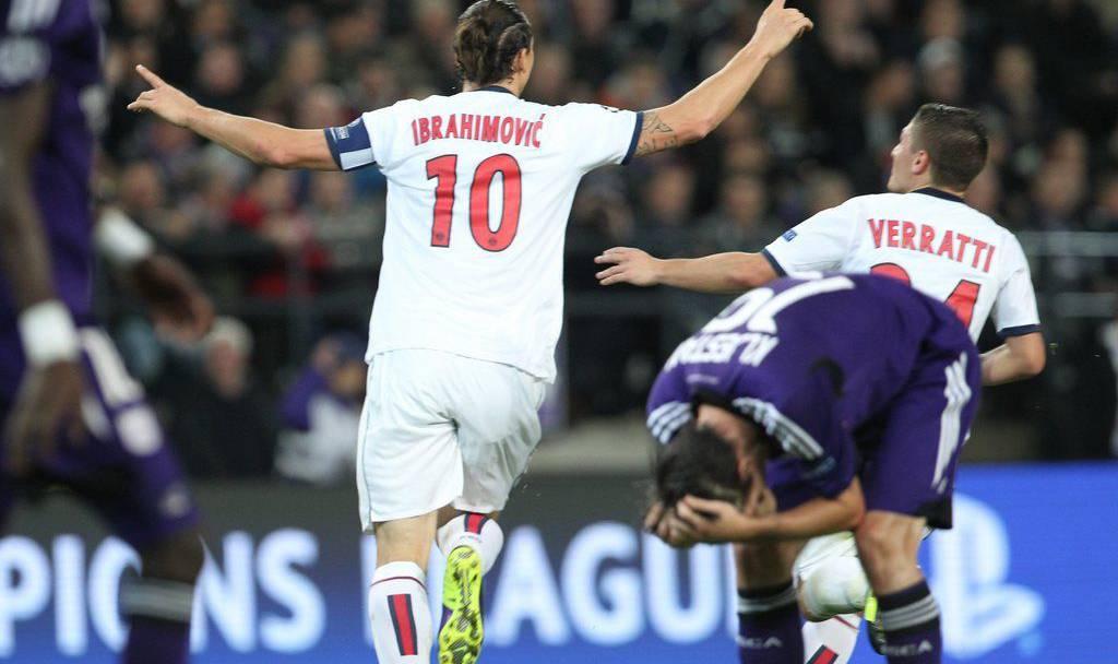Das Supergoal von Ibrahimovic gegen Anderlecht