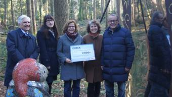 Roman Kuhn, Susann Streicher und Sybille Bader von Coop Region Nordwestschweiz mit Rosmarie Groux und Herbert Strebel von Erlebnis Freiamt.