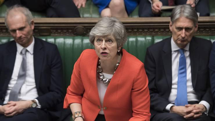 Theresa May hatte nach der gestrigen Abstimmung im Parlament wenig zu lachen.