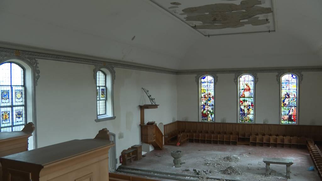 So sieht es nach dem Brand an Weihnachten in der Kirche aus