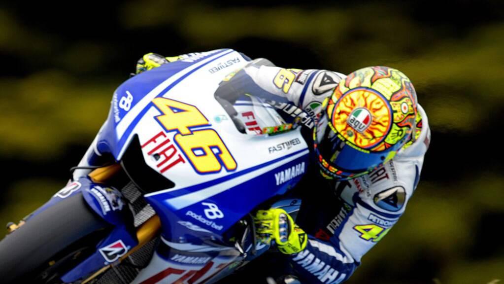 Immer mit der Nummer 46 unterwegs: Valentino Rossi auf seiner erfolgbringenden Yamaha