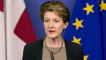 Bundespräsidentin Simonetta Sommaruga auf schwieriger Mission in Brüssel.