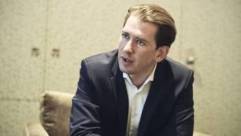 Der Österreichische Bundeskanzler Sebastian Kurz im Gespräch mit den Zeitungen von CH Media bei seinem Staatsbesuch in der Schweiz.