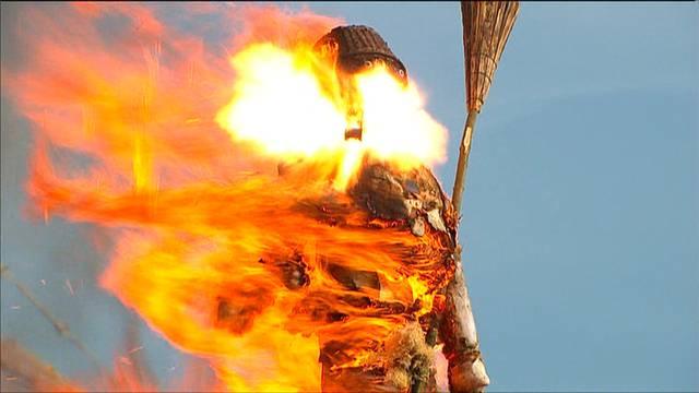 Böögg-Explosion 2011: Die Besen-Panne
