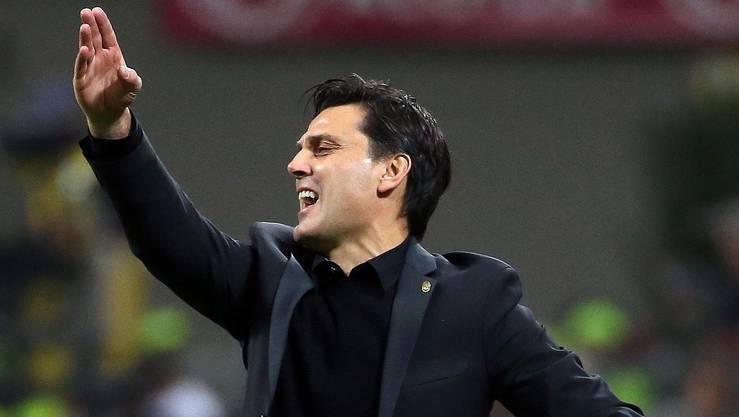 Der AC Milan Trainer Vincenzo Montella befindet sich auf einem Höhenflug.
