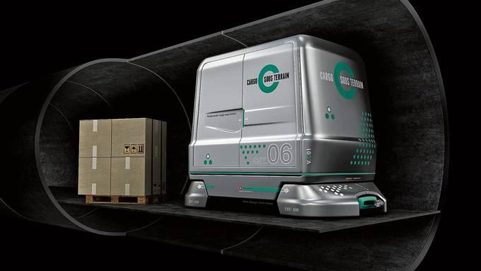 In solchen Fahrzeugen sollen Güter unterirdisch transportiert werden. Die Dietiker Politik zeigt sich interessiert.