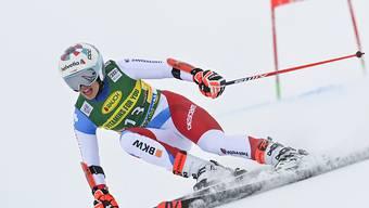 Michelle Gisin in Action in Sölden, wo sie mit dem 4. Rang ihr bestes Ergebnis in einem Weltcup-Riesenslalom egalisierte