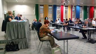 Am Donnerstagabend tagte das Oltner Gemeindeparlament wegen Corona in einem Konferenzsaal des Hotel Arte.