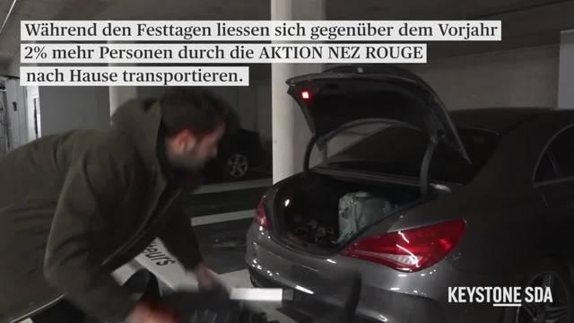 """Freiwilliger Heimfahrdienst """"Nez Rouge"""" mit Rekordzahl von Fahrten"""