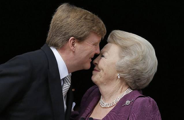 Ein letzter Kuss für die Mama