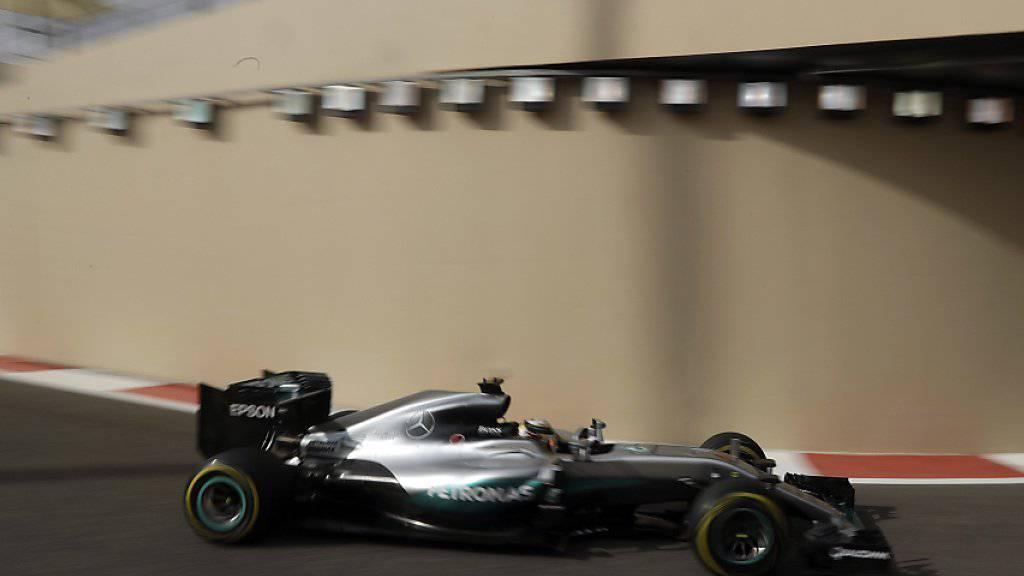Boxenausfahrt für Lewis Hamilton: In Abu Dhabi führt diese durch einen Tunnel