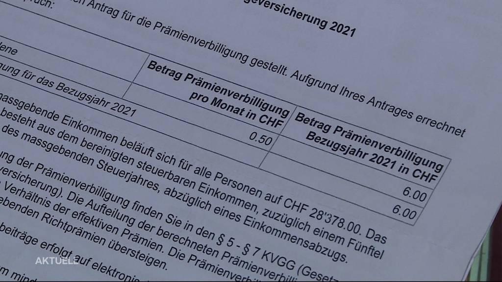 Verärgerte Kundin: Riesiger Aufwand für 50 Rappen Prämienverbilligung pro Monat