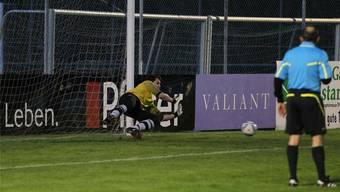 Suhr-Goalie Patrick Wanner avancierte zum Cuphelden und lässt sein Team vom Titel träumen. otto lüscher