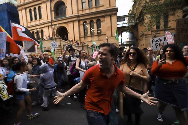 Weitere Impressionen vom Klimaprotest in der australischen Metropole Sydney.