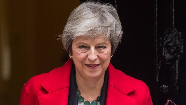 Theresa May am Donnerstag in London unterwegs zum Parlament.