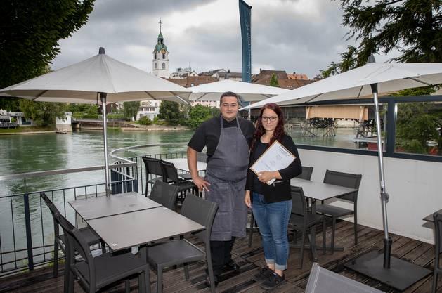 Küchenchef Marcel Helm und Geschäftsführerin Stefanie Bader, «Lungomare», Olten.