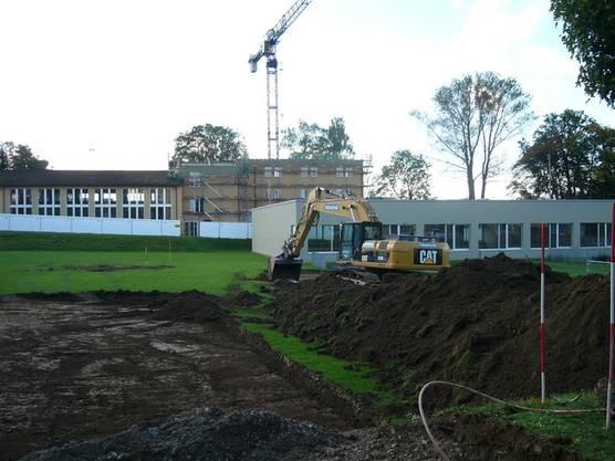 Oktober 2013 Hier wird die Turnhalle Rüsler gebaut