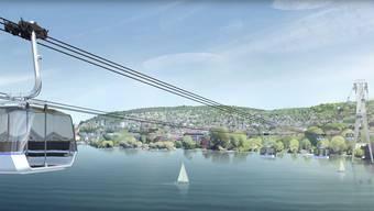 Die Seilbahn soll nach derzeitiger Planung ab Juni 2020 während fünf Jahren die beiden Seeufer verbinden. Mehr Informationen unter finden Sie unter: http://www.zkb.ch/2020