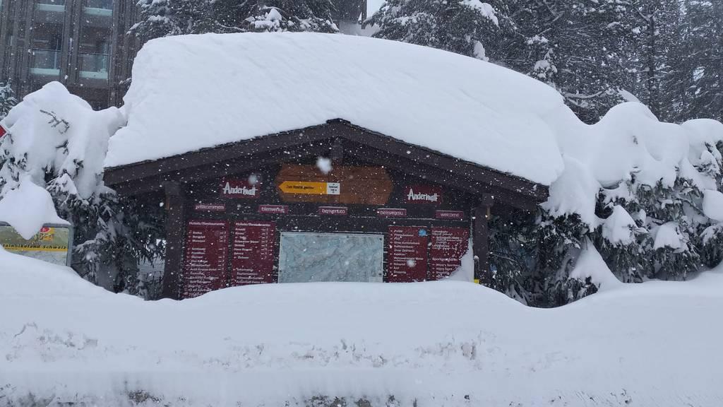 Nochmaliger Wintereinbruch in Andermatt