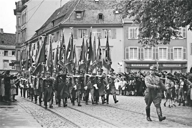 Aufmarsch im Zentrum von Lörrach.