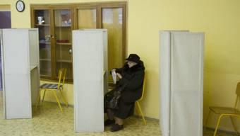 Wahllokal in Bratislava