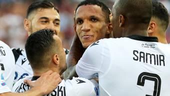 Udinese jubelt: Rodrigo Becao erzielte das Siegestor gegen Milan