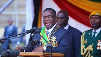 Emmerson Mnangagwa ist laut einem Entscheid des Verfassungsgerichts in Simbabwe der rechtmässige Gewinner der Präsidentenwahlen vom 30. Juni. (Archivbild)