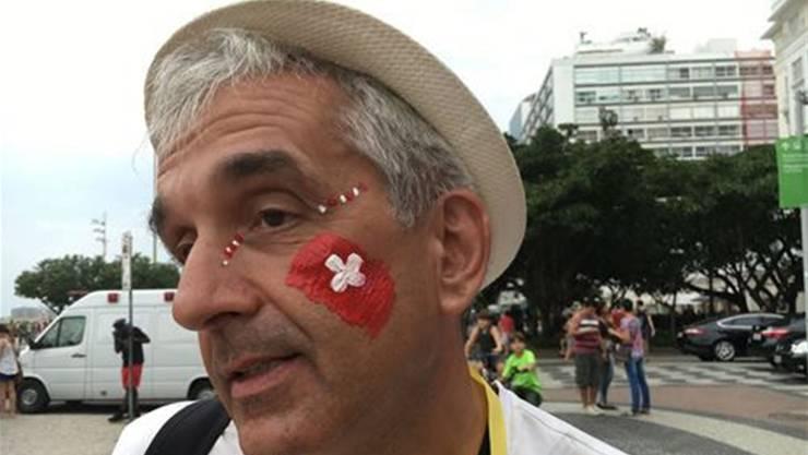 Toni Held als Zuschauer in Rio.