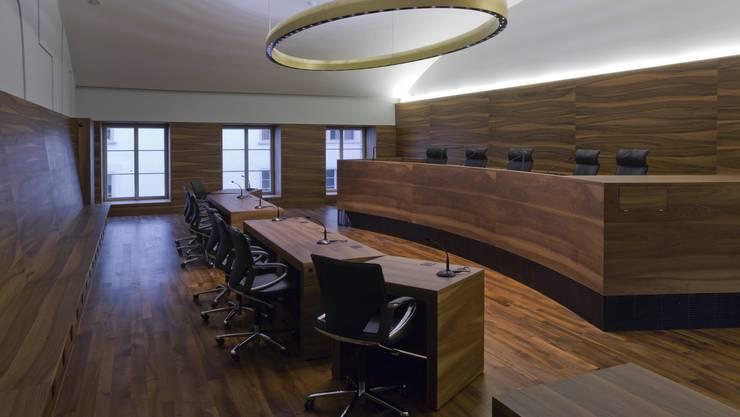 Gerichtssaal im Obergeschoss