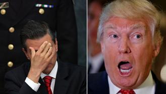 Mexikos Präsident Enrique Peña Nieto kann die Pläne vom gewählten US-Präsidenten Donald Trump nicht mehr hören. (Montage)