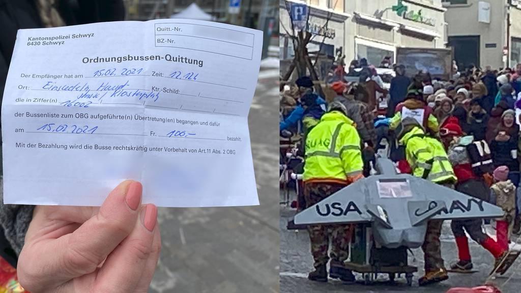 Nach Süühudiumzug in Einsiedeln: Polizei verteilt rund 100 Bussen an Fasnächtler
