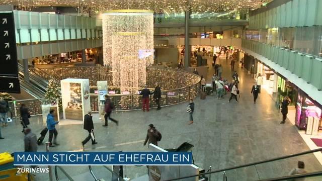 Flughafen Zürich: Ehefrau niedergestochen