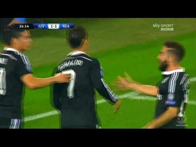 Cristiano Ronaldo erzielt das 1:1 gegen Juventus