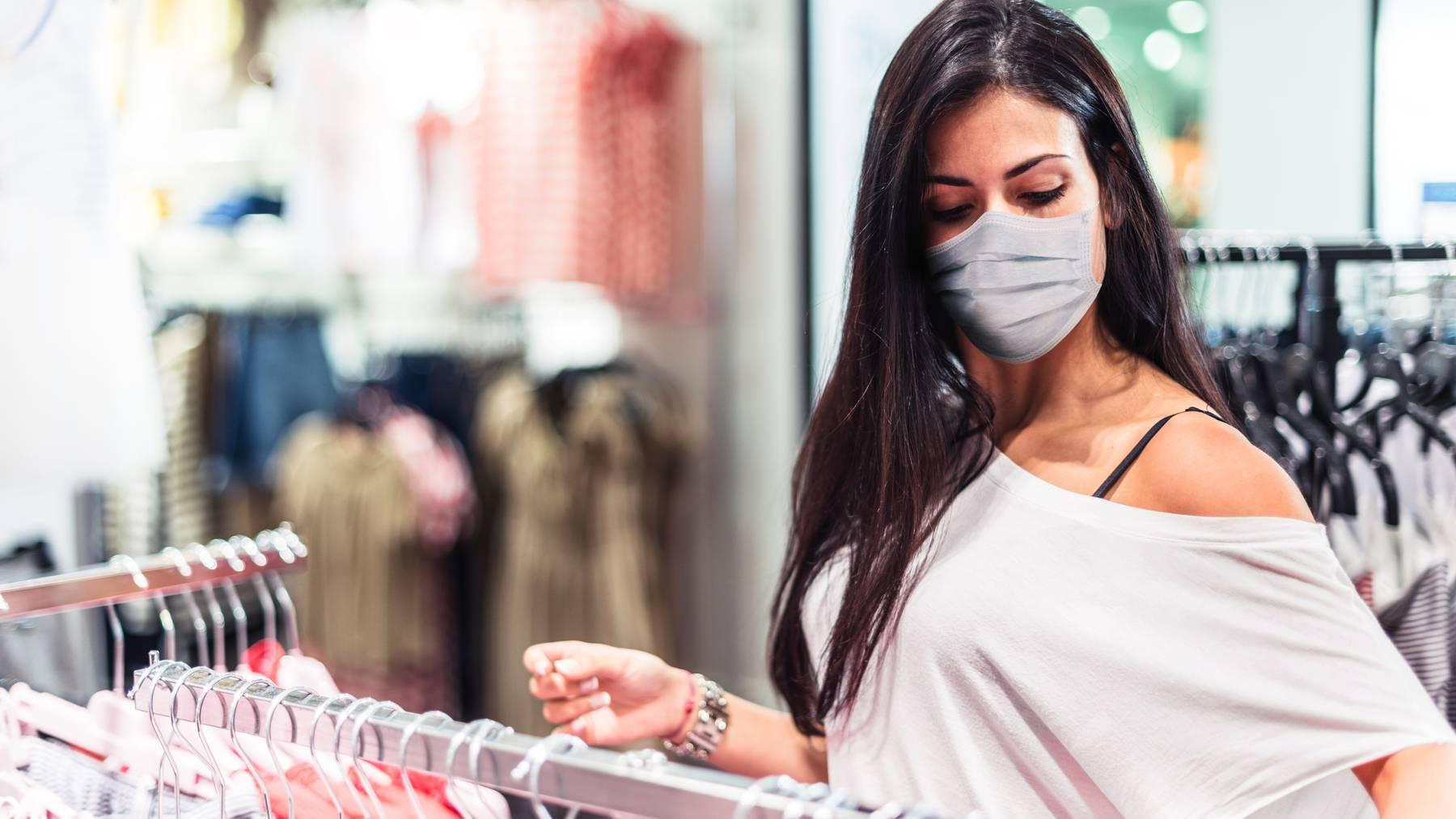 Shoppen mit Maske