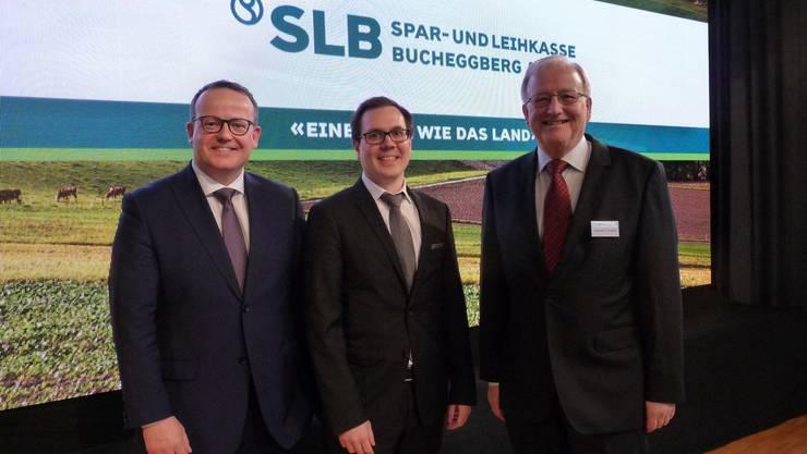 Von links: Thomas Vogt, Vorsitzender der Geschäftsleitung, Daniel Sommer, neues Geschäftsleitungsmitglied und Theodor F. Kocher, Präsident des Verwaltungsrates