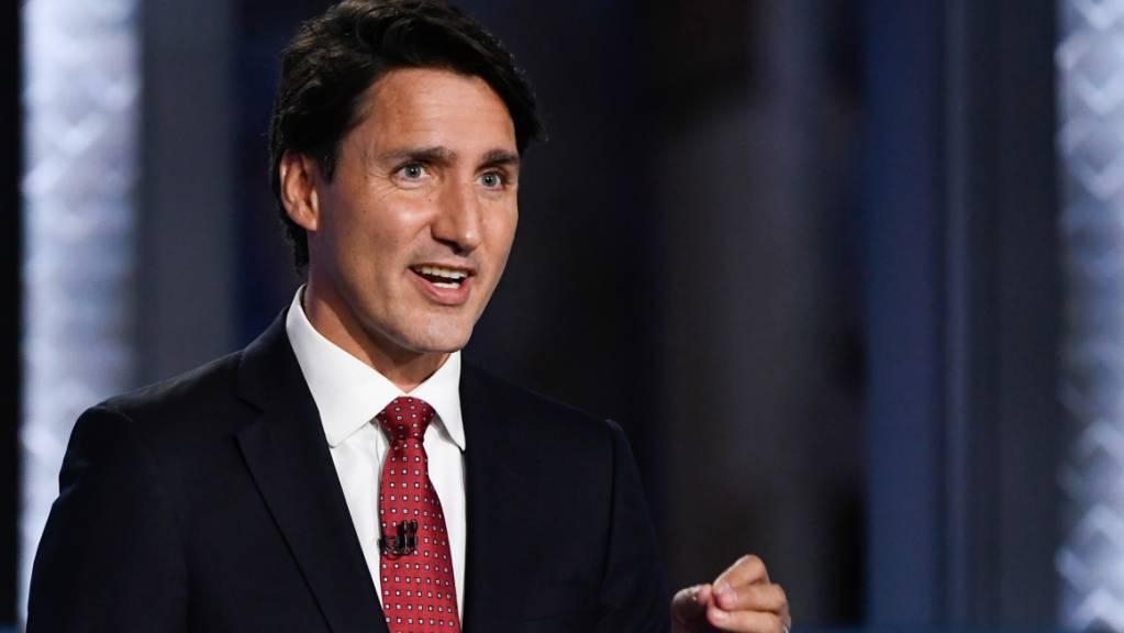 ARCHIV - Justin Trudeau, Premierminister von Kanada und Parteivorsitzende der Liberalen, spricht während einer Debatte. (Archivbild) Foto: Justin Tang/The Canadian Press via ZUMA/dpa
