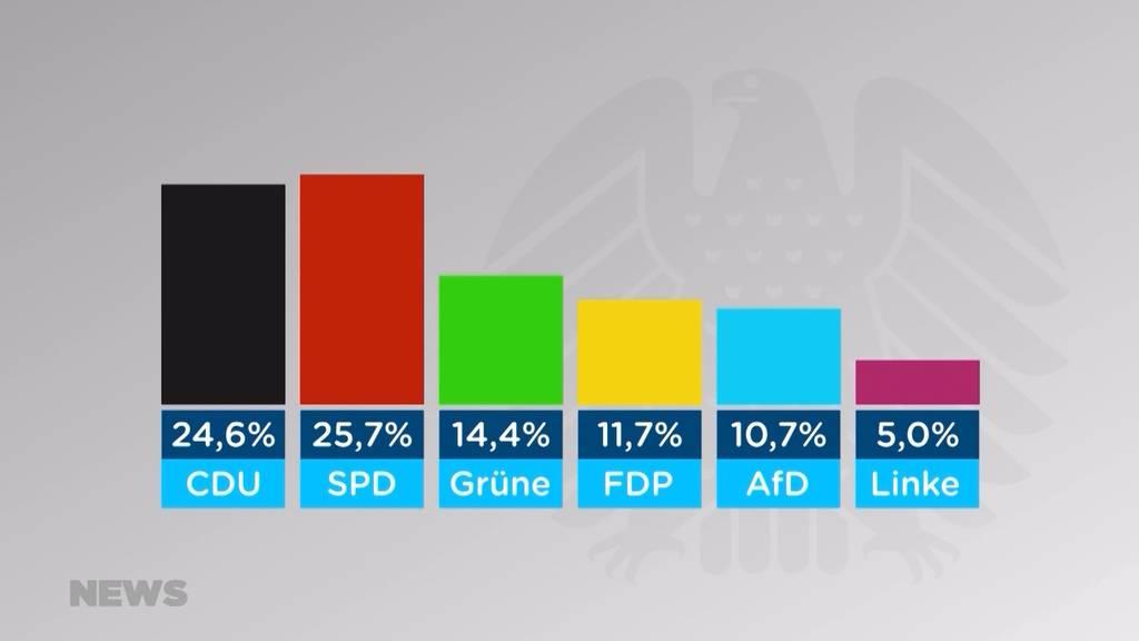 Erste Trends bei der deutschen Kanzlerwahl