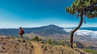 Im Inselzentrum von La Palma befindet sich die riesige Schlucht Caldera de Taburiente. Sie entstand, als die Magmakammer eines Vulkans zusammenbrach.
