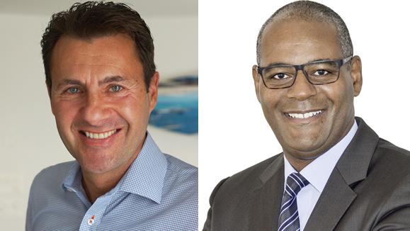 Der parteilose André Heinrich (links) und Michael Stoll (FDP) wollen Paul Wertli beerben.