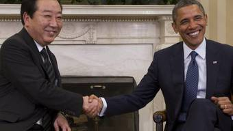 Barack Obama (r.) und Yoshihiko Noda
