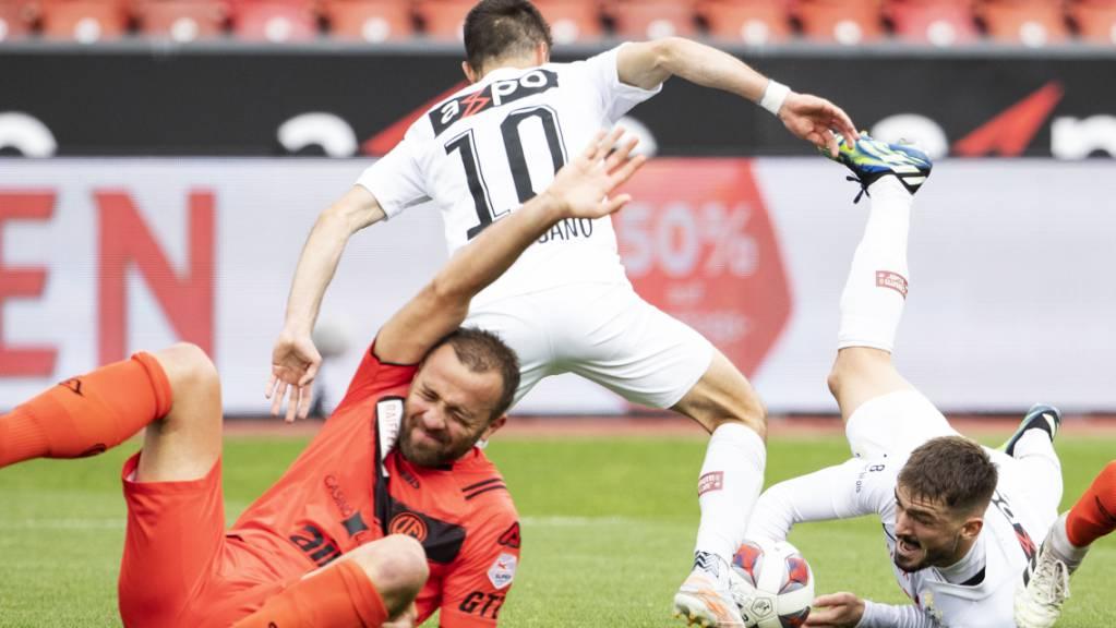 Antonio Marchesano (10) war mit zwei verwandelten Penaltys der Matchwinner für den FC Zürich gegen Lugano