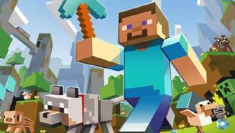 «Minecraft»: Bekannt für einfache Grafiken. Hier erschafft man sich spielend virutelle Welten aus Klötzchen.