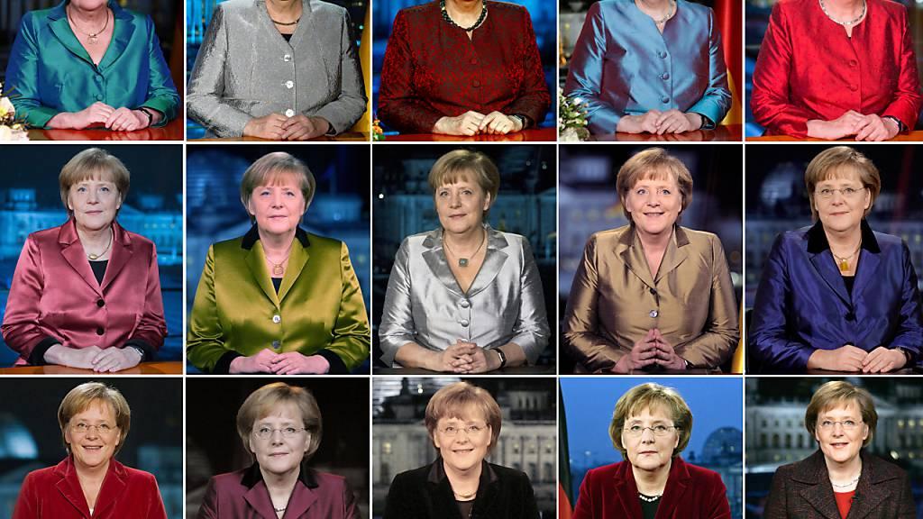 ARCHIV - Bundeskanzlerin Angela Merkel (CDU), aufgenommen nach der Aufzeichnung ihrer Neujahrsansprache im Kanzleramt. Foto: dpa