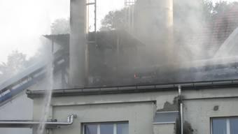 Brand in einem Fabrikationsbetrieb in Strengelbach
