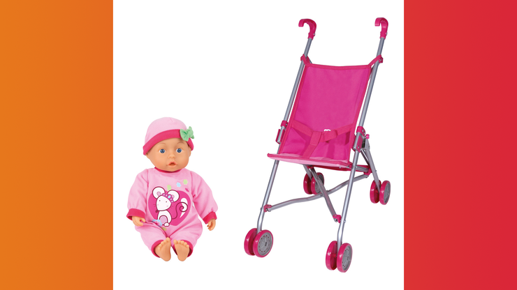 Wunsch-Nr. 47, Thalia, 2 Jahre, Bayer Puppe mit Puppenwagen, Manor, CHF 39.90