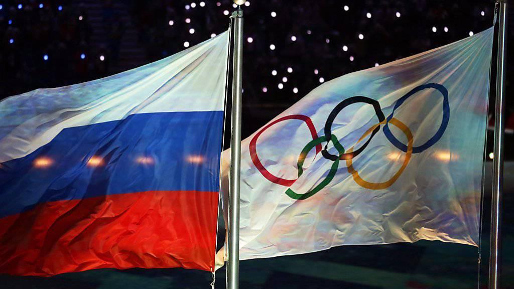 Die russische Flagge wird an den Olympischen Spielen 2018 nicht zu sehen sein